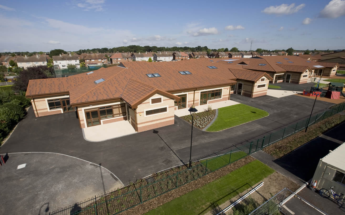 priory academy with Metrotile roofing