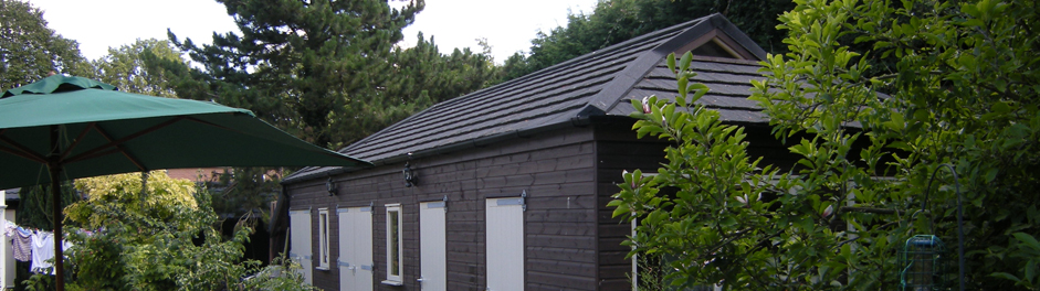 shingle roofing on outbuilding