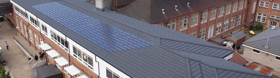 southport college with photovoltaic tiles