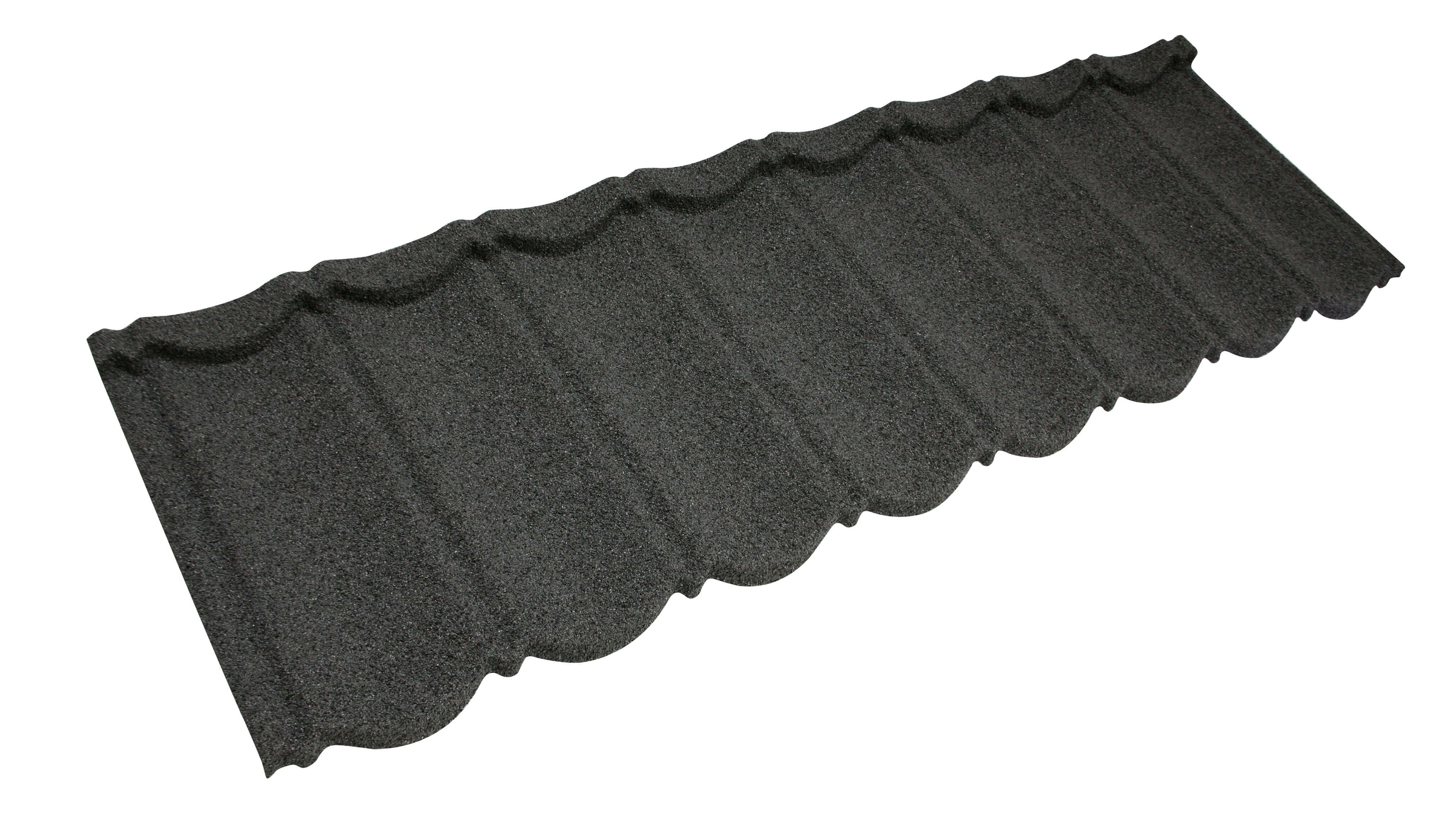 Metrotile Bond Lightweight Roofing Tile Profile in Charcoal