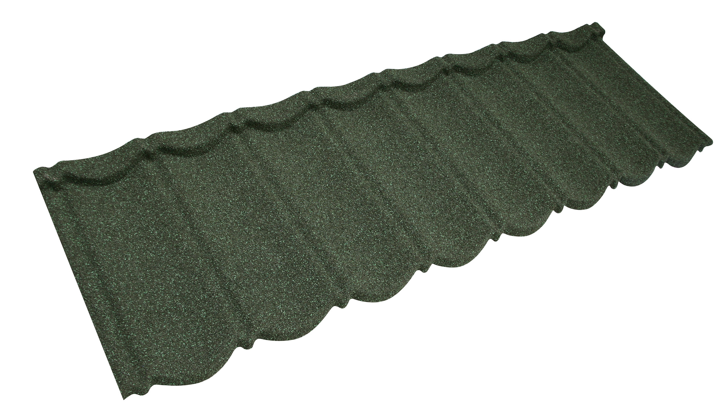 Metrotile Bond Lightweight Roofing Tile Profile in Green