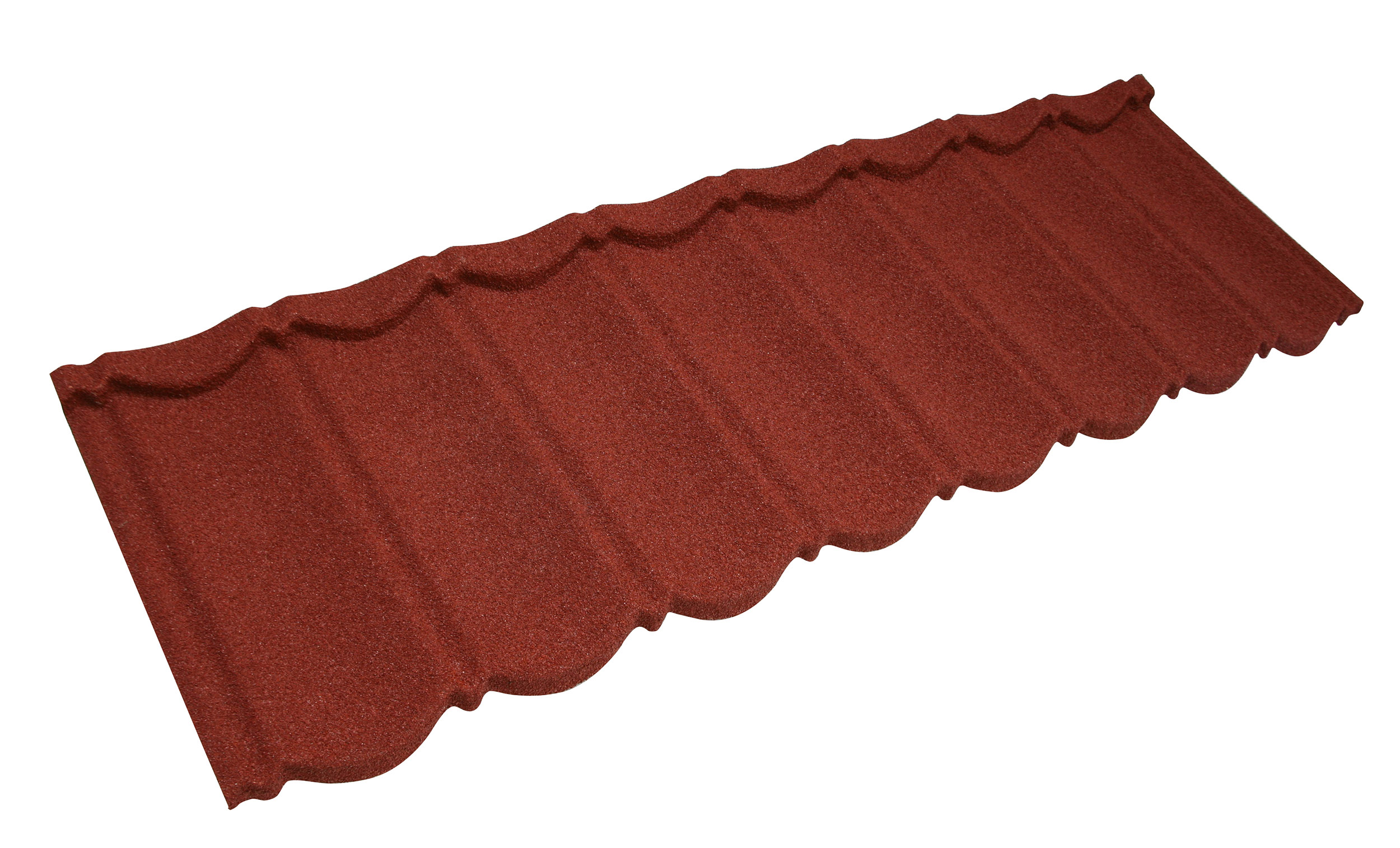 Metrotile Bond Lightweight Roofing Tile Profile in Red