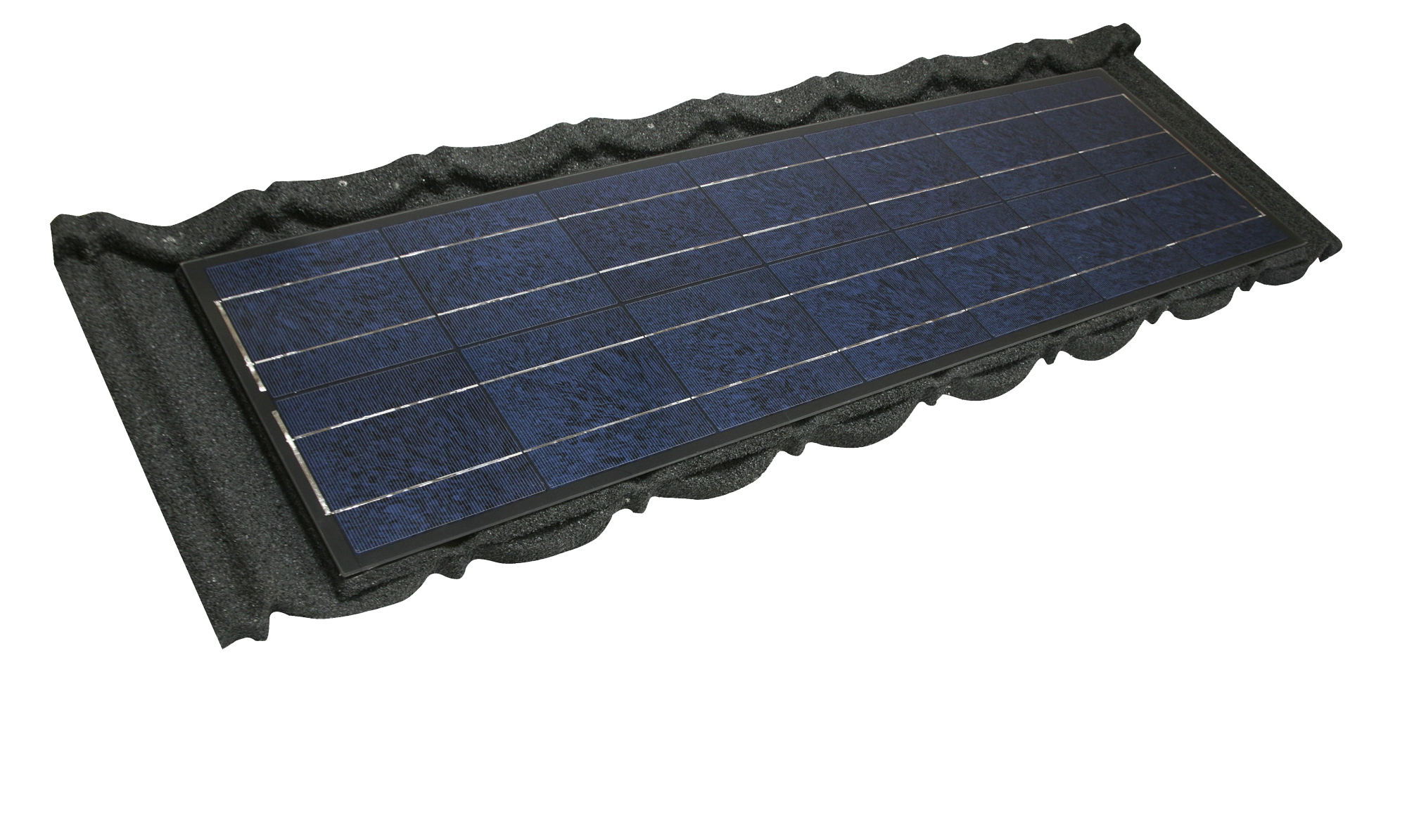 Charcoal Metrotile Bond Roof Tile with Integrated Photovoltaic Panel