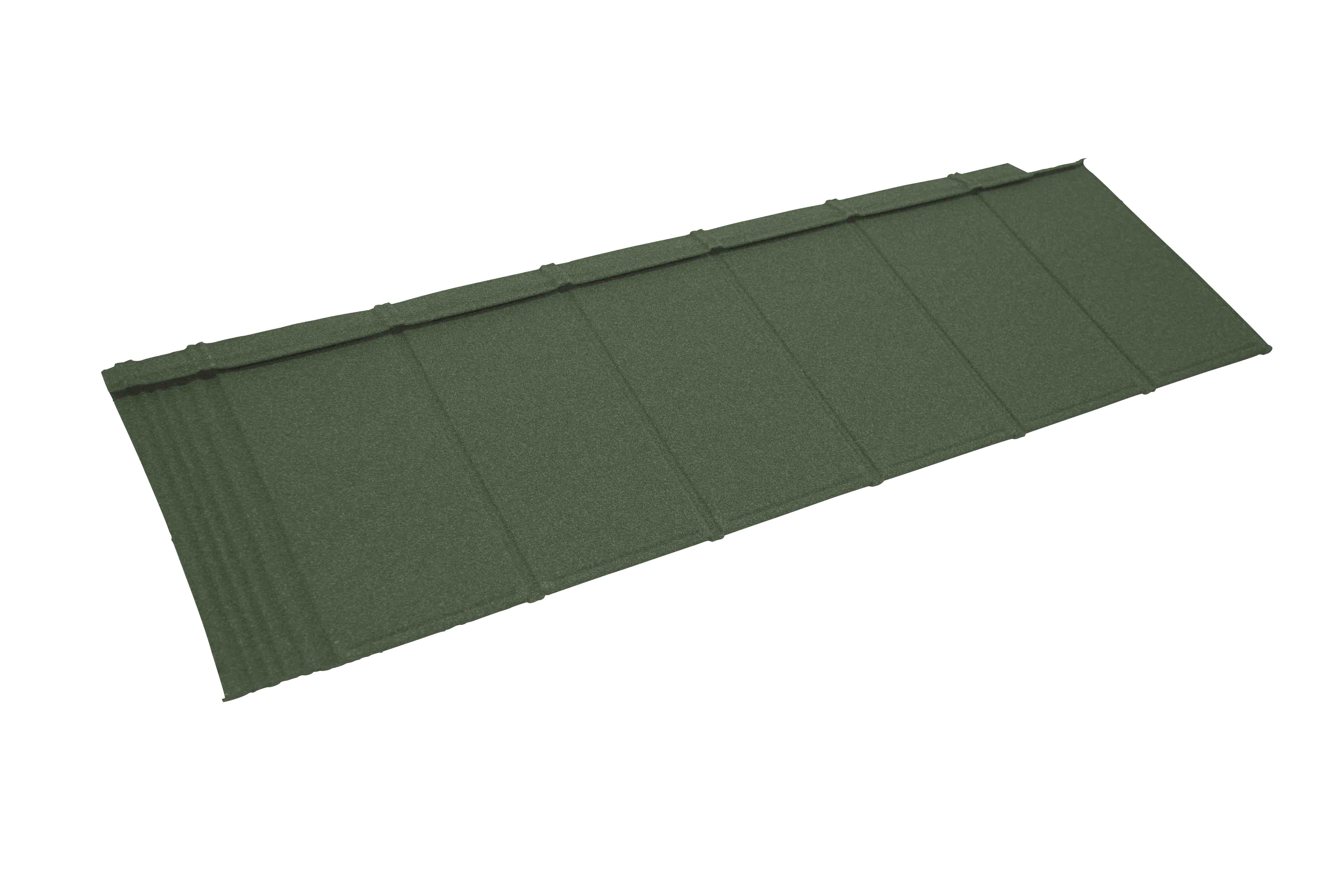 Metrotile iPanel Roofing and Cladding Tile in Green
