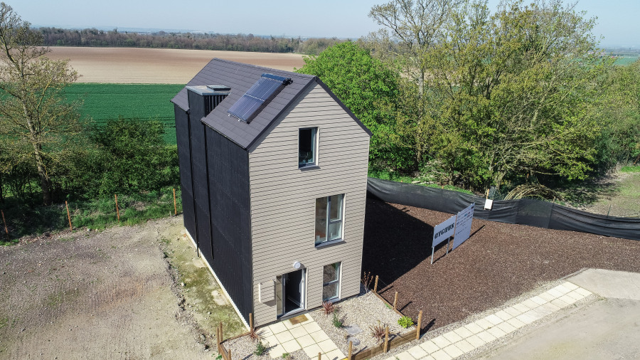 Cygnus Modular Off Site Home Metrotile Charcoal Roof